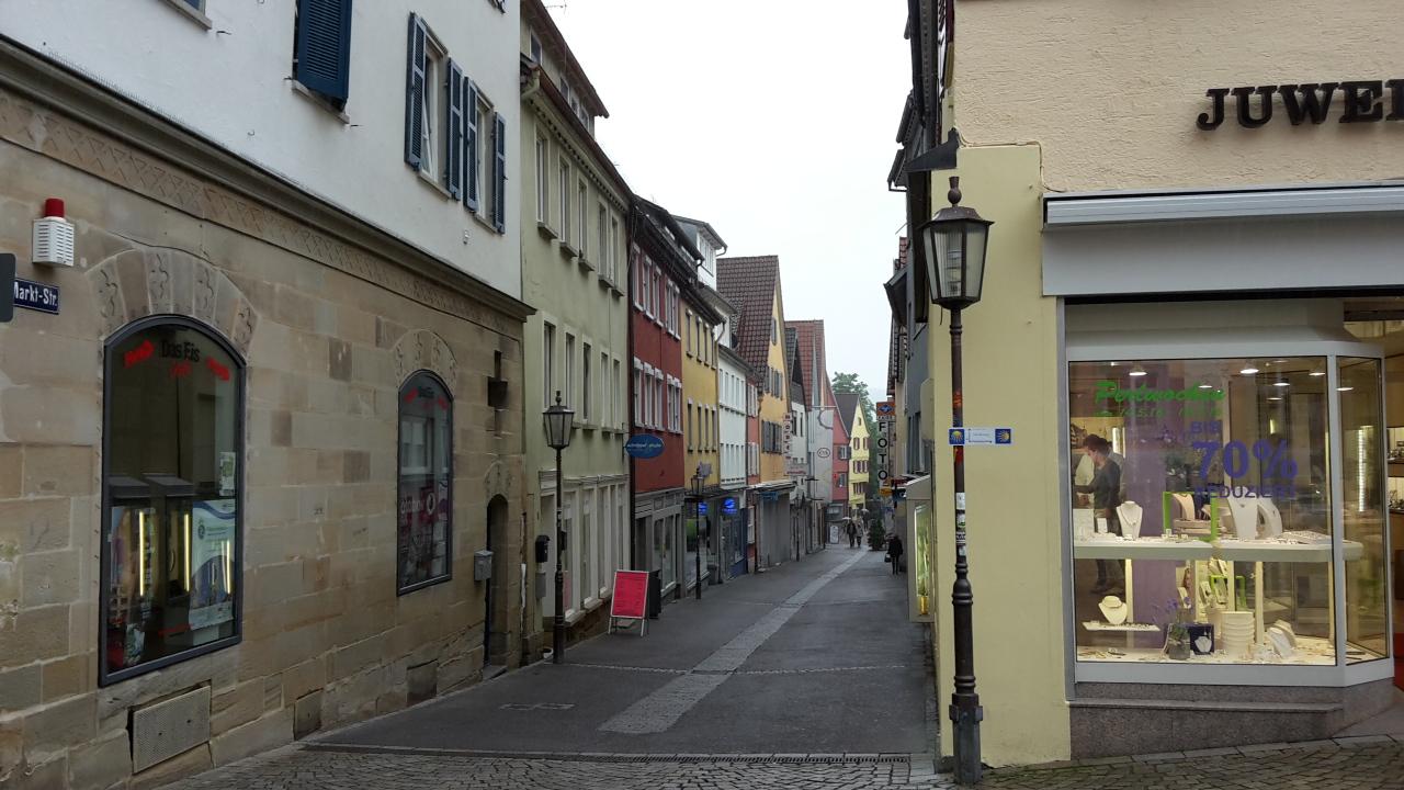 Startpunkt am Marktplatz in Rottenburg