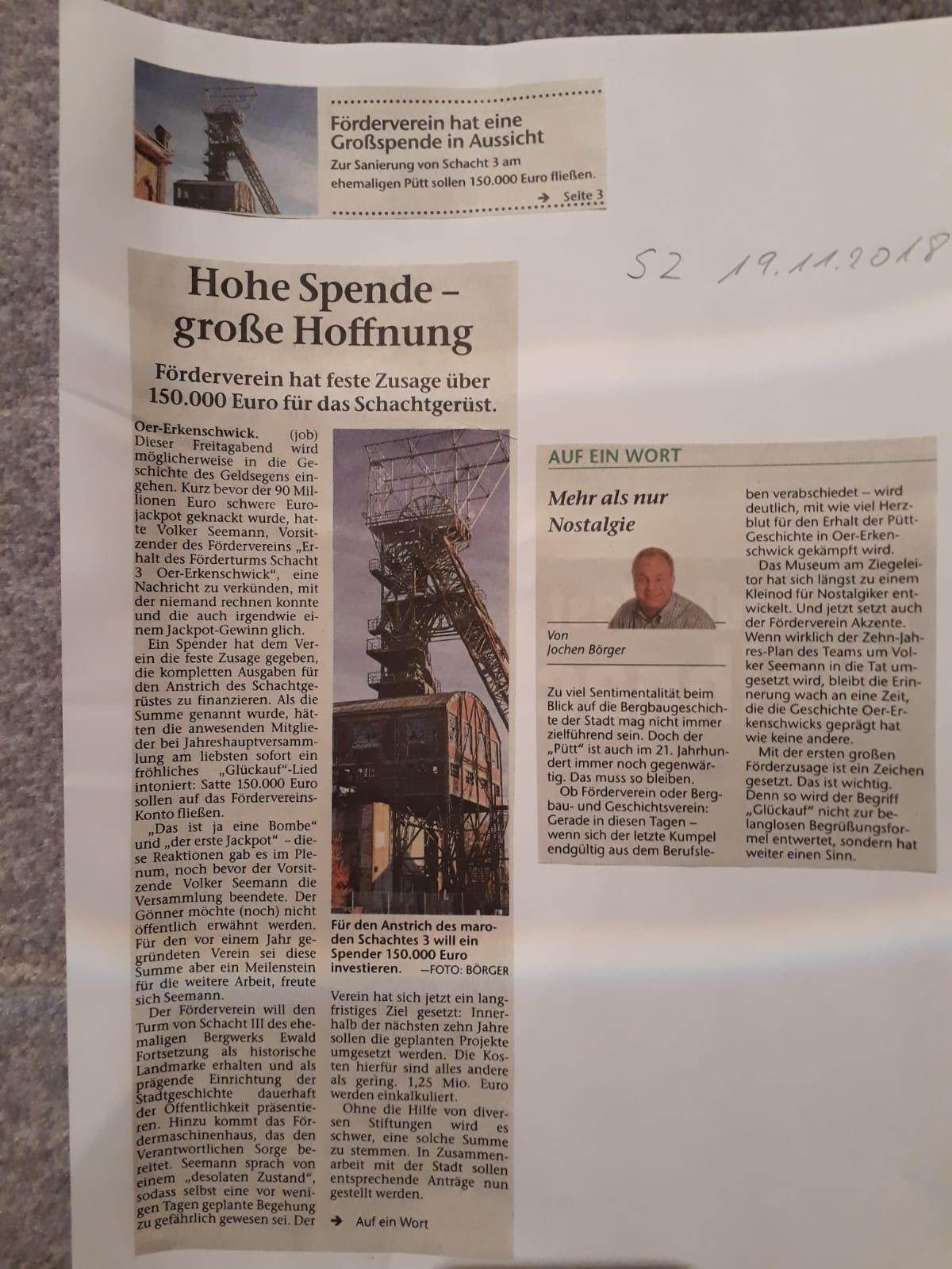 Stimberg Zeitung 19.11.2018