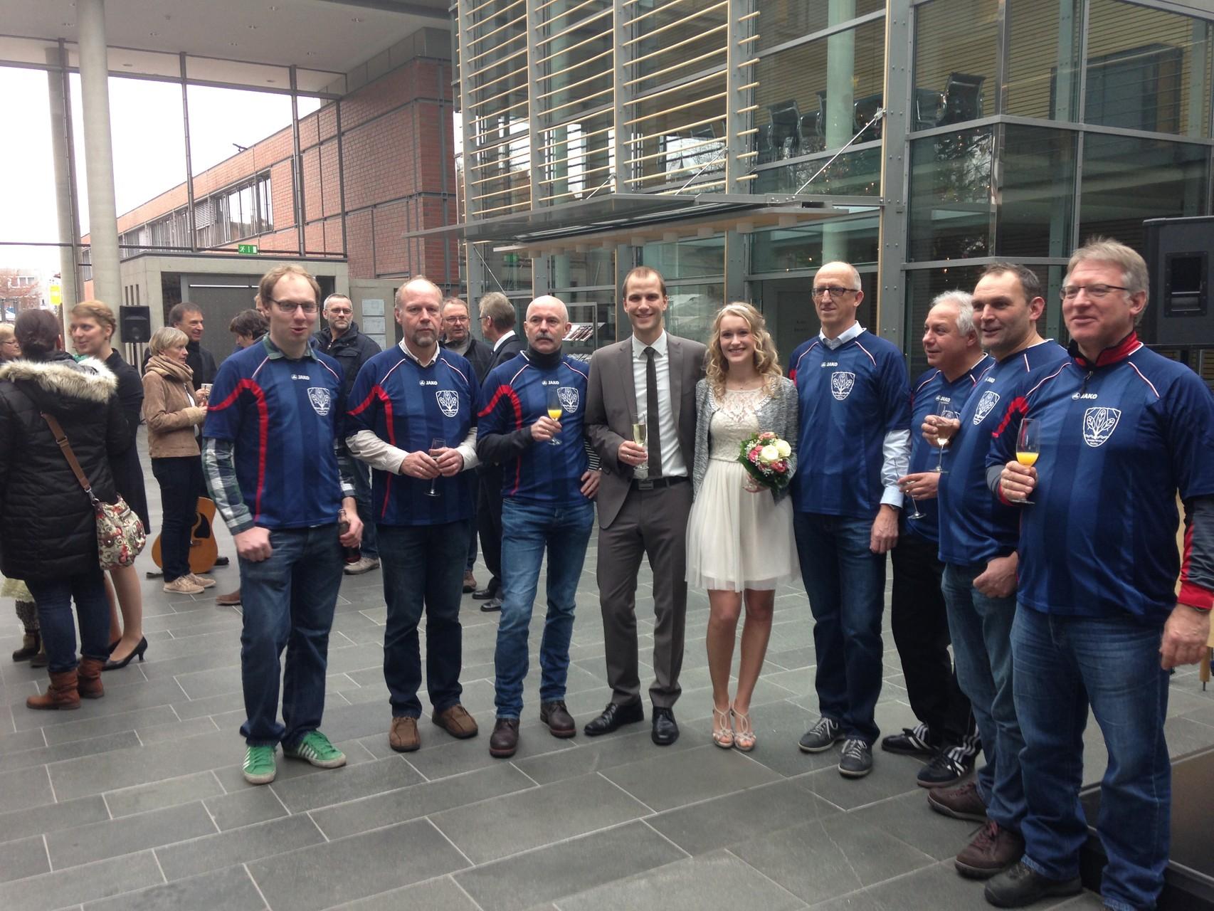 Hochzeit unseres Mitgliedes Franz Bokop jr.