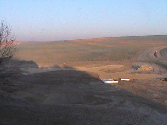 Vue des premiers emplacements stabilisés .