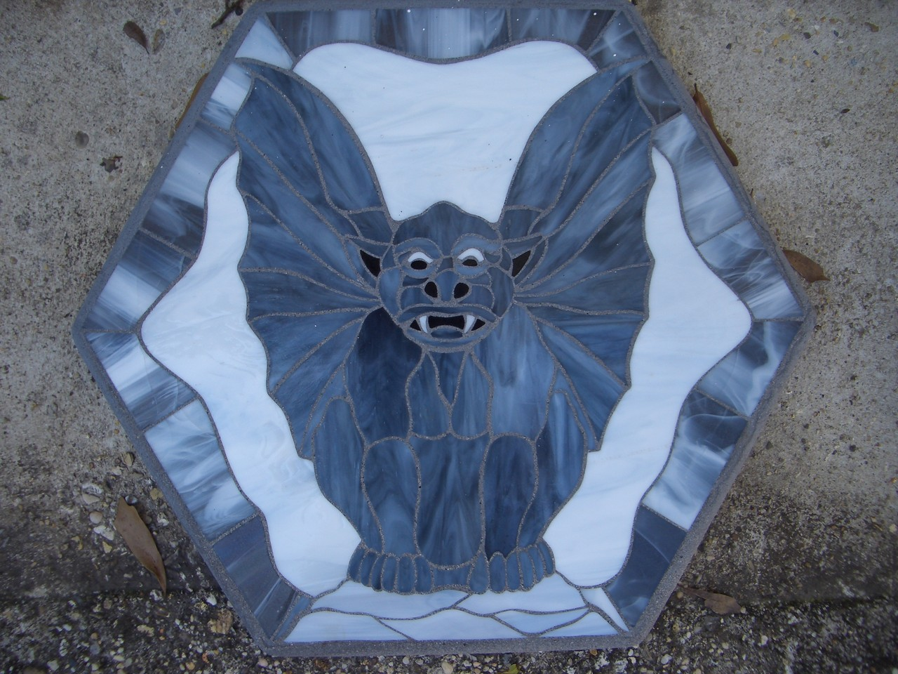 Gargoyle Stained Glass Mosaic Stepping Stone