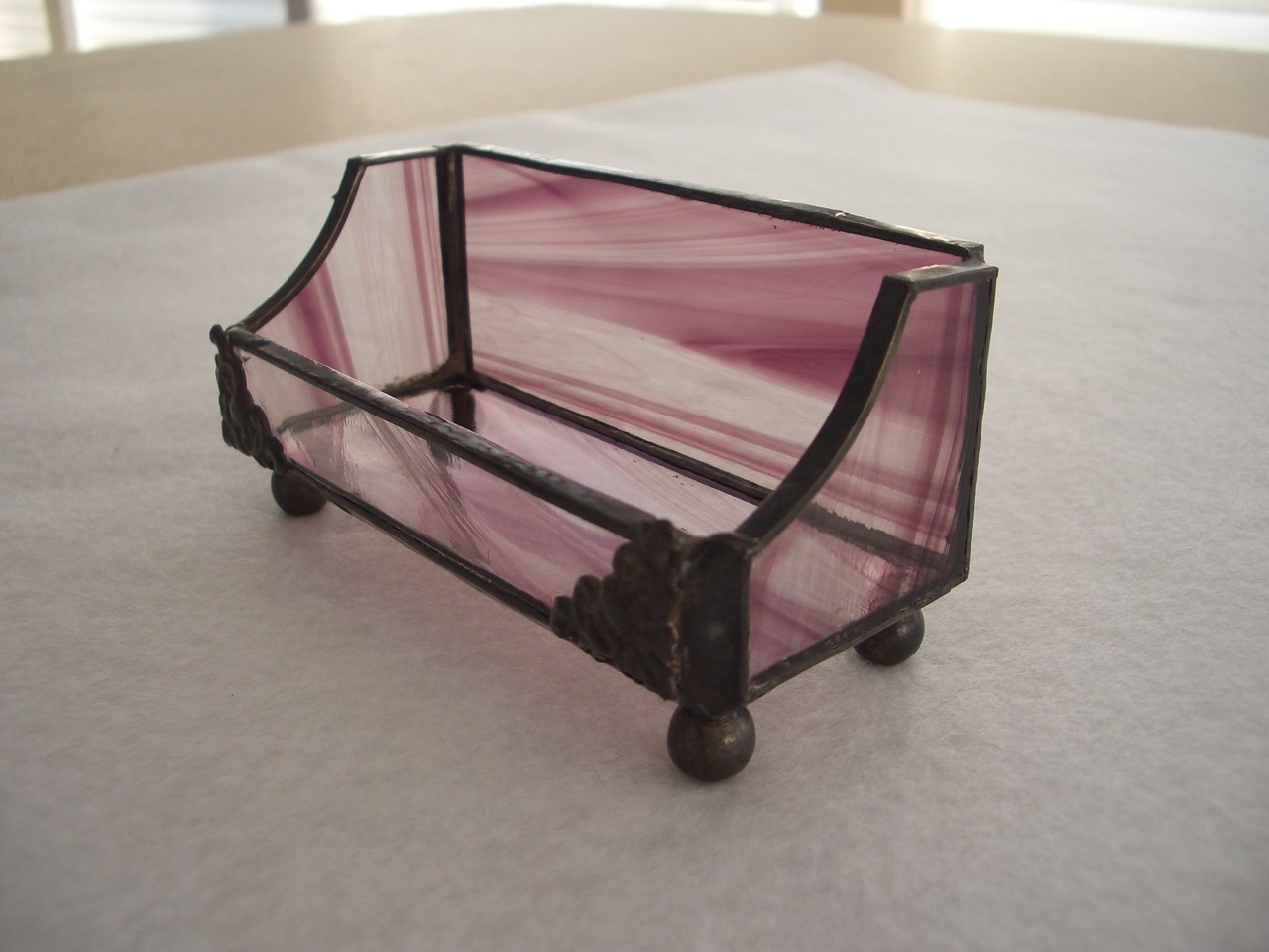Stained Glass Business Card Holder