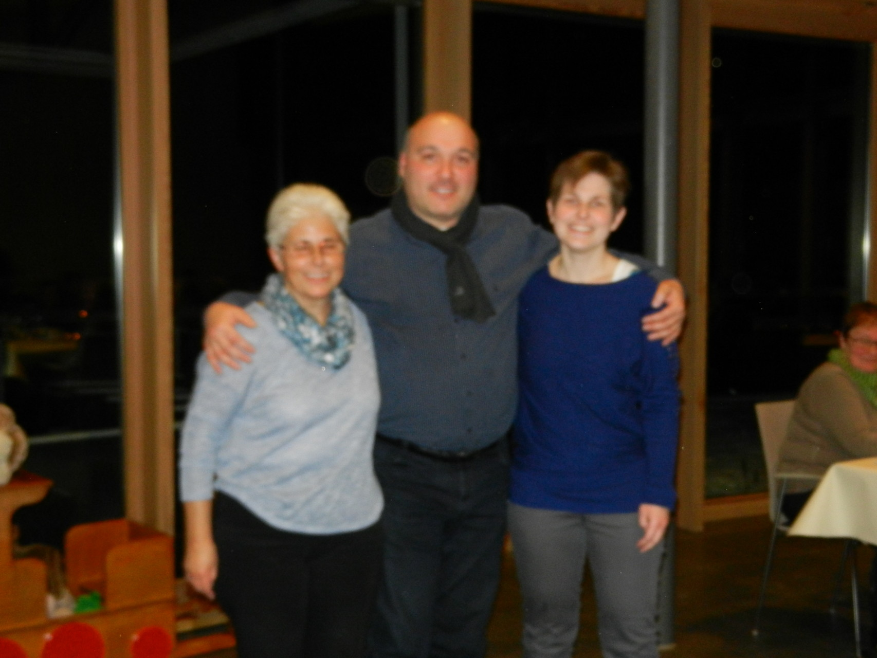 Von rechts Marie-Theres, Biagio, Claudia