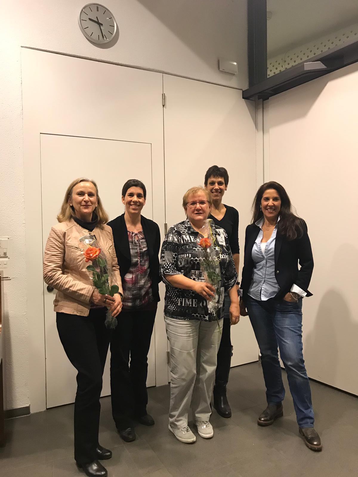 Verabschiedung der Vorstandsmitglieder Gabriele Spengler und Erika Senn