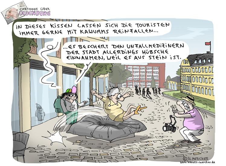 Cartoons über Oldenburg 6: Kissen aus Stein