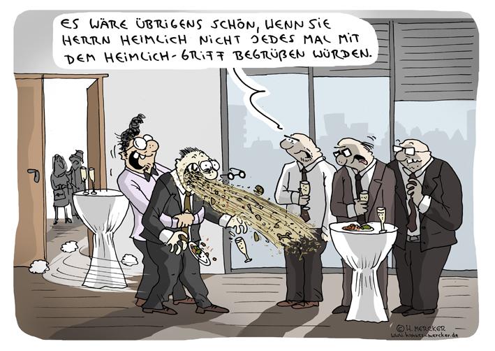 Cartoon über merkwürdige Begrüßungsrituale