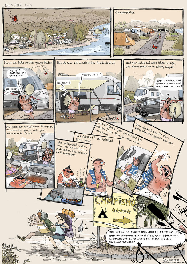 Beispiel-Comic vom Comiczeichner Hannes Mercker