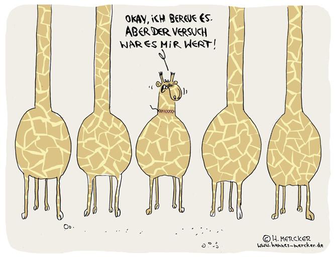 Cartoon: Giraffe lässt Schönheitsoperation durchführen