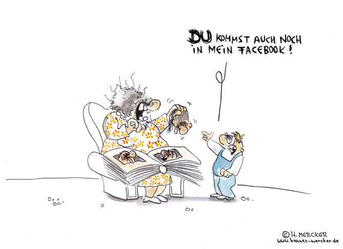 "Cartoon ""Mein Facebook"""