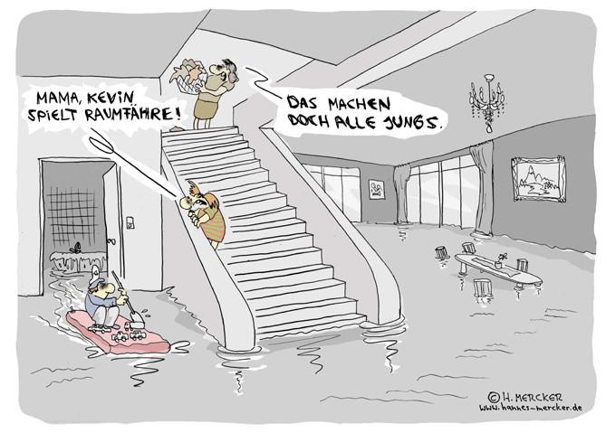 """Cartoon """"Die Fähre"""""""
