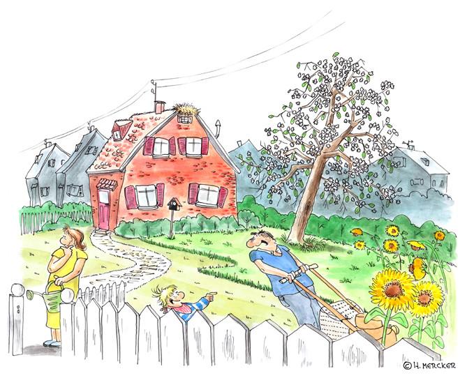 """Illustration """"Kinderbuch Ole"""""""