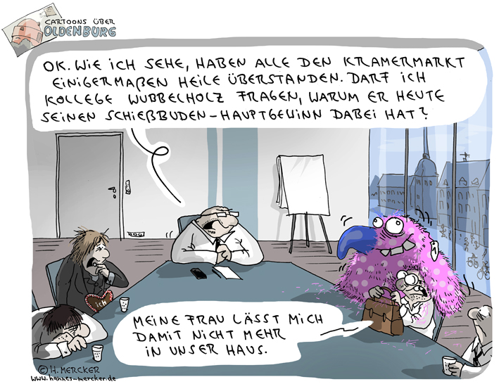Cartoon über Oldenburg 1: Kramermarkt