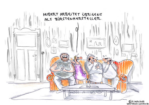 "Cartoon ""Auf dem Sofa"""