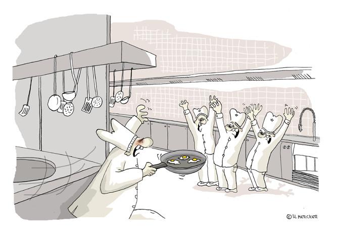 "Cartoon ""Der Überfall (Dioxinskandal 2011)"""