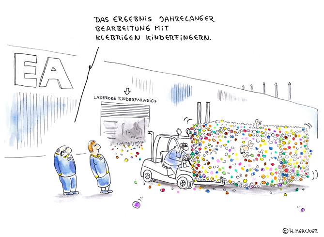 "Cartoon ""Superklebebälle"""