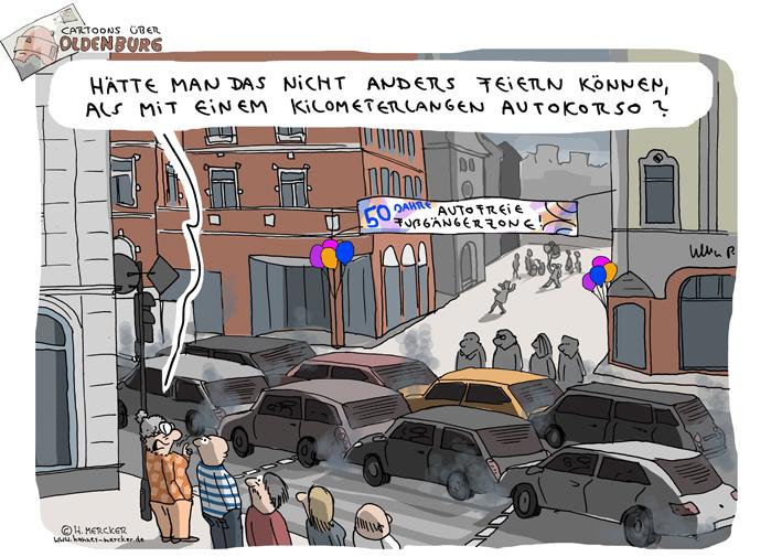 Cartoons über Oldenburg 9: 50 Jahre Fußgängerzone
