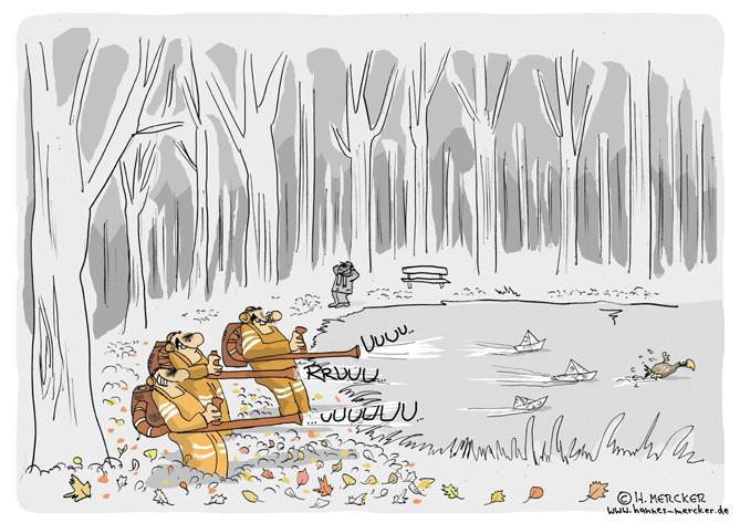 """Cartoon """"Stillleben im Herbst"""""""
