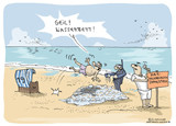 Cartoon Am Strand