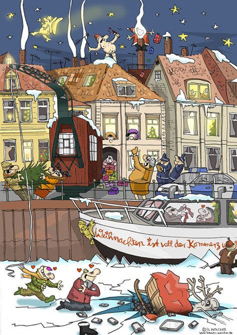 "Illustration ""Adventskalender Onlinemagazin"""