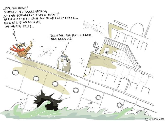 """Cartoon """"Das letzte Gedicht"""""""