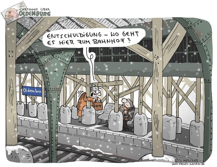 Cartoons über Oldenburg 4: Wege zum Bahnhof