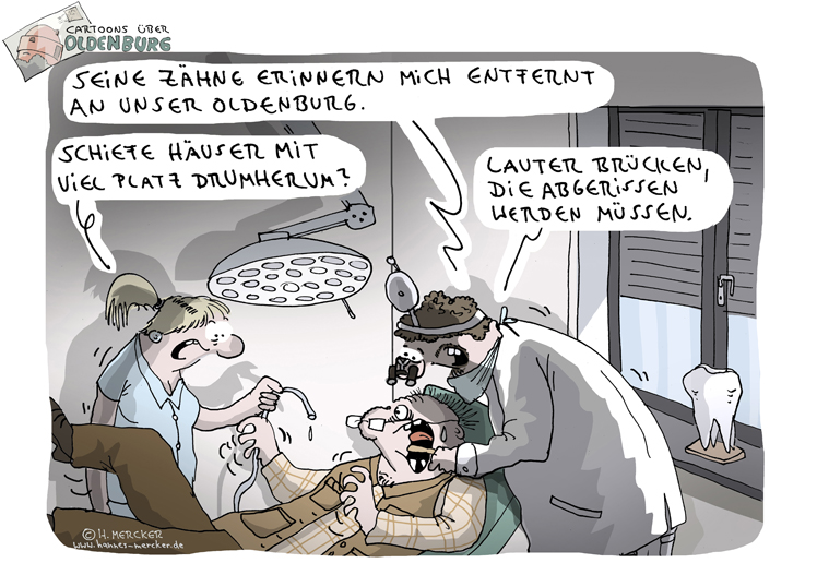 Cartoons über Oldenburg 8: Brücken