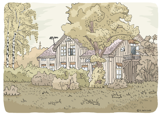 "Illustration ""Svensk Herrgård"""