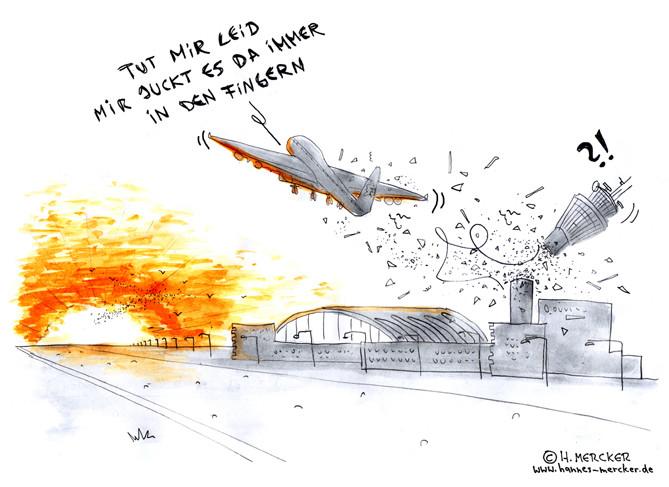 "Cartoon ""Flug"""