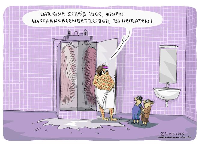 """Cartoon """"Waschanlage"""""""
