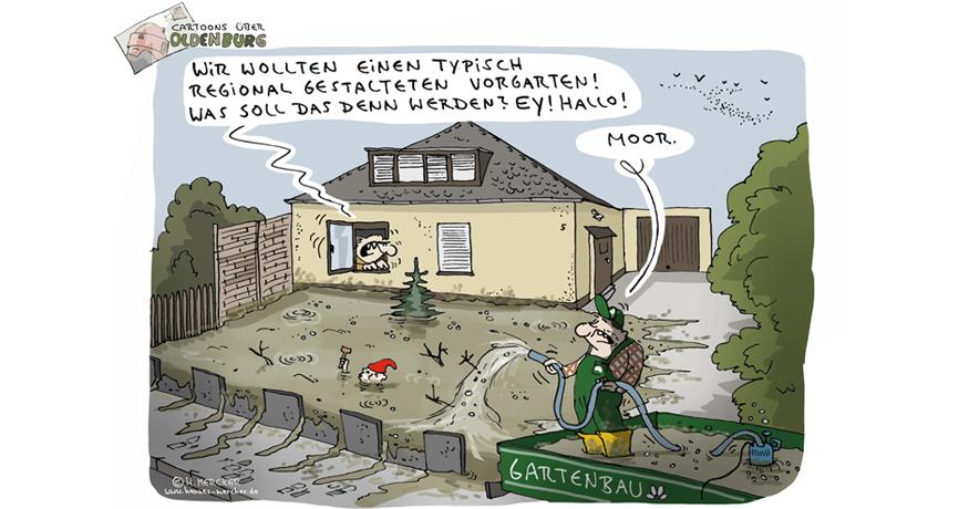 Cartoons über Oldenburg 16: Der Vorgarten