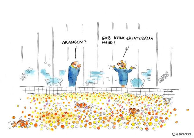 """Cartoon """"Orangenparadies"""""""