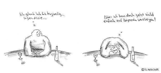 """Comic Tagträumer Nr. 06 """"Rotwein/Weißwein"""""""