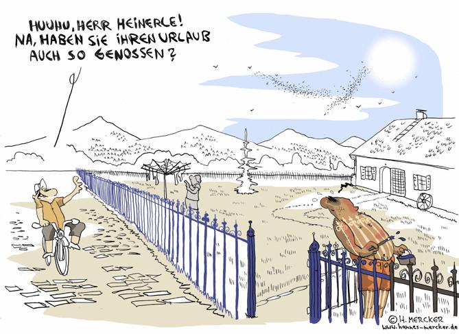"""Cartoon """"Urlaubsbräune"""""""