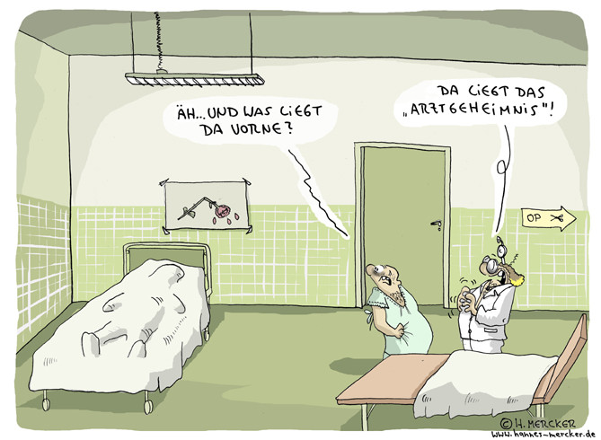 "Cartoon ""Im OP-Saal"""