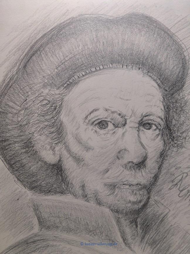nach Rembrandt, Selbstbildnis