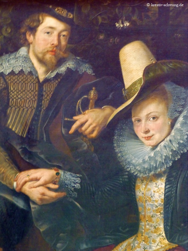 Der Künstler mit seiner Frau Isabella Brant