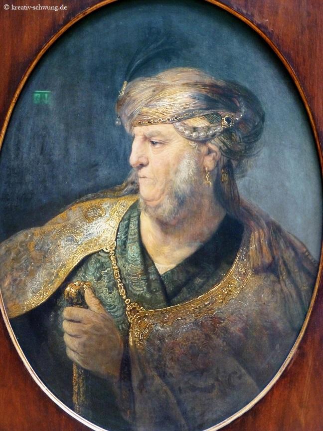 Alte Pinakothek, Der Mann im Orientgewand, Rembrandt