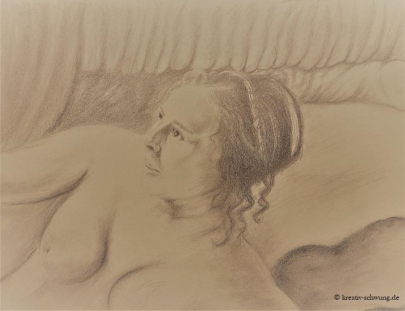 Danae nach Vorlage von Rembrandt