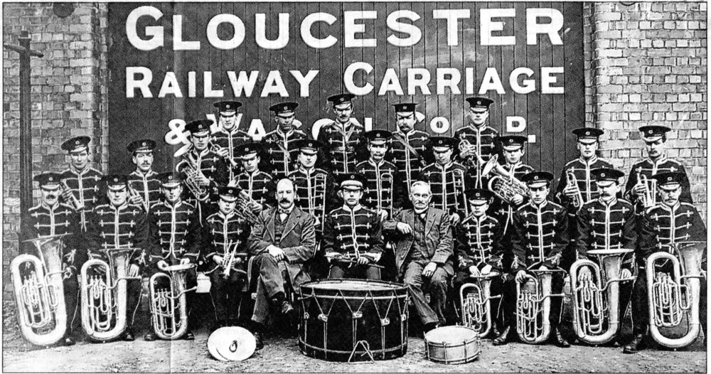 Photograph of the Gloucester Railway Carriage and Wagon Company Band c.1900's