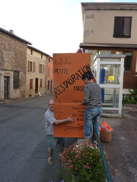 Installation des pancartes