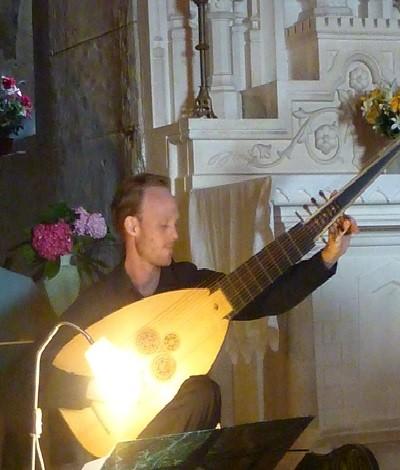 Ulrik Larsen au théorbe
