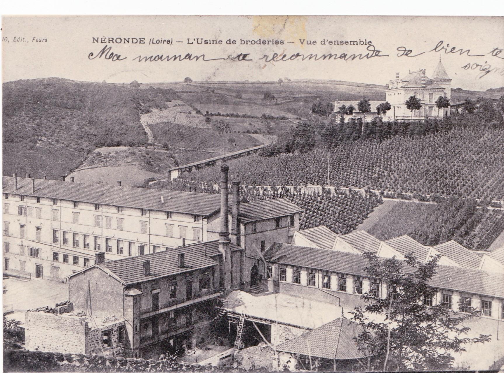 L'usine de broderie autour de 1900 (aujourd'hui lycée P. Coton)