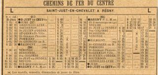 Horaires des trains en 1926