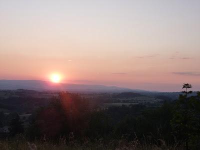 Et le magnifique coucher de soleil d'après concert sur les Monts du Forez