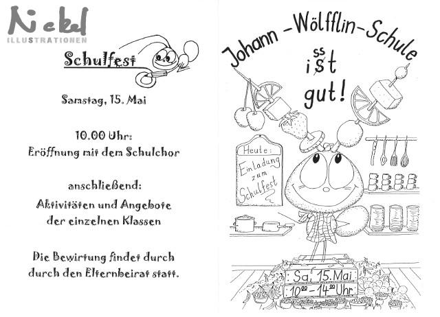"""Einladung Schulfest 2004, Thema """"Ernährung"""""""