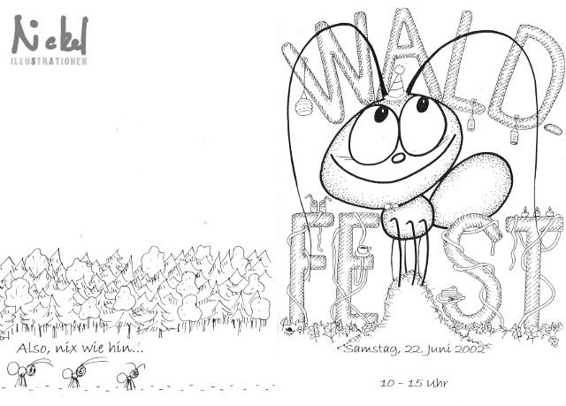 """Einladung Schulfest 2002, Thema """"Wald"""""""