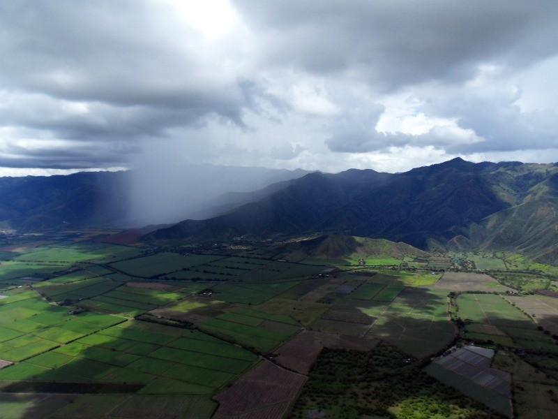 Regen gibt's da wir fast auf Höhe Äquator sind.