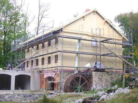 Sanierung eines Mühlengebäude - in Massivholzbauweise