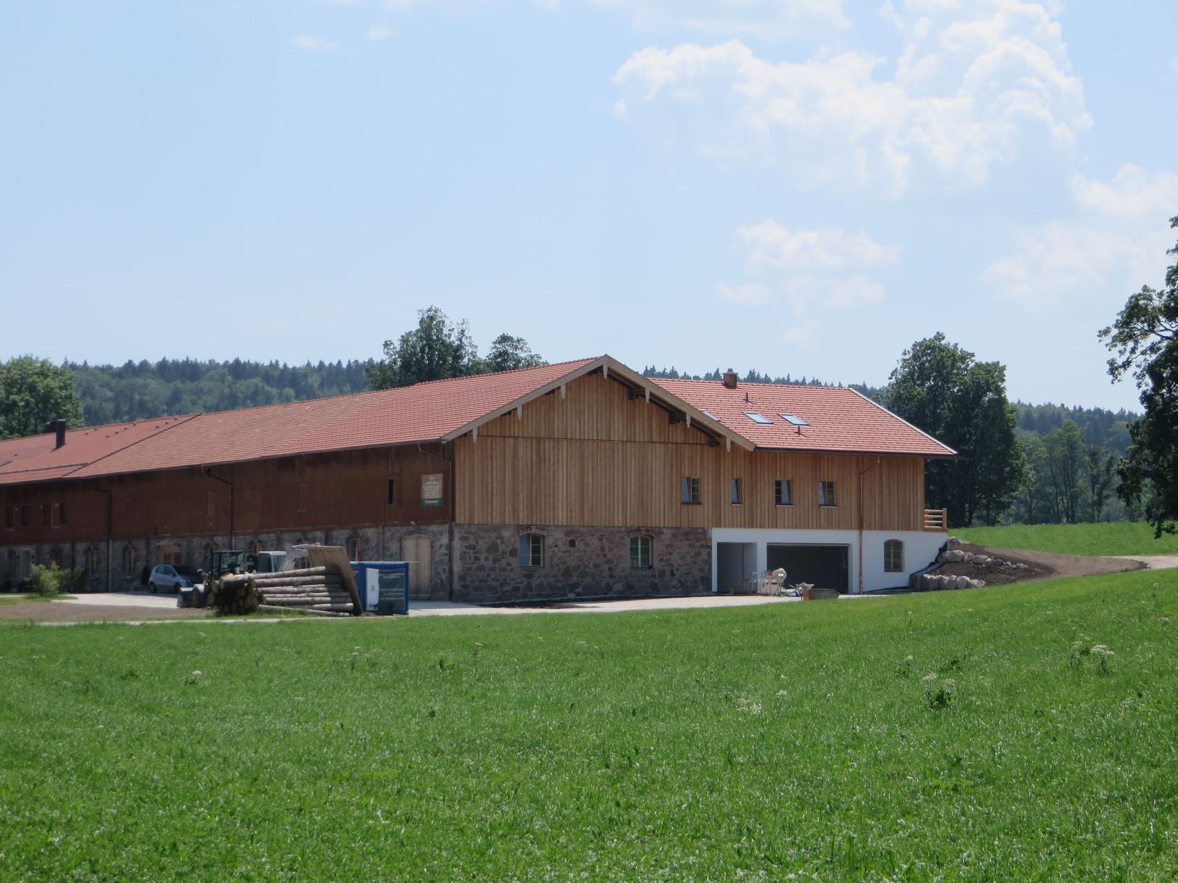 Anbau in Massivholzhaus an landwirtschaftl. Gebäude, Gmund-Finsterwald 2014/2015