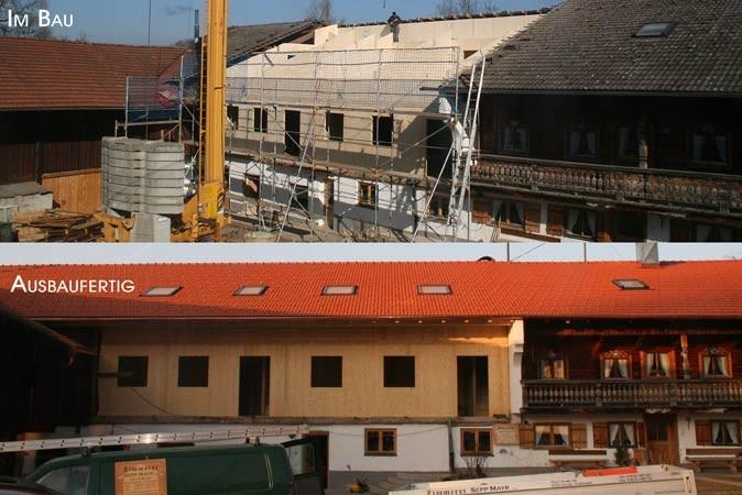 Einbau von Ferienwohnungen in Tenne - in Massivholzbauweise
